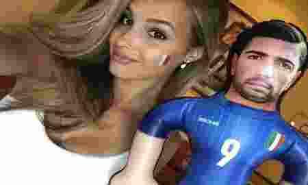 Italia Lolos Perempat Final Euro 2016, Model Seksi Ini Cium Pelle