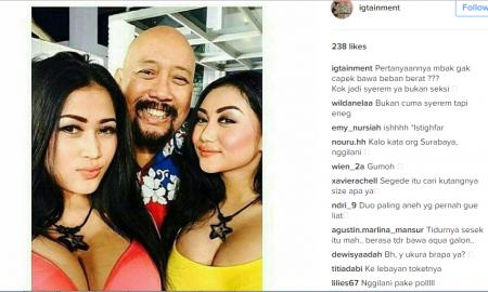 Dada Duo Serigala Bikin Netizen Melongo Saat Pose Bareng Indro Warkop,