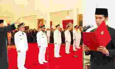Jokowi Lantik 5 Gubernur