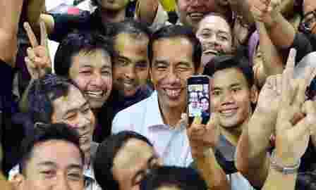 selfie bersama jokowi